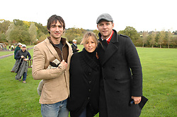 Left to right, actor ALEX WYNDHAM, singer RACHEL STEVENS and actor ALLEN LEECH at the Finch & Partners Clay Pigeon Shoot in aid of Battersea Dogs Home at the Holland & Holland Shooting Ground, Ruislip, Middlesex on 17th October 2007.<br />