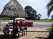23 JULY 2002 - TRINIDAD, SANCTI SPIRITUS, CUBA: Highway rest area on the road to Trinidad, Sancti Spiritus province, Cuba, July 23, 2002. .PHOTO BY JACK KURTZ