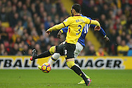 Romelu Lukaku of Everton shoots to score his sides 1st goal. Premier league match, Watford v Everton at Vicarage Road in Watford, London on Saturday 10th December 2016.<br /> pic by John Patrick Fletcher, Andrew Orchard sports photography.