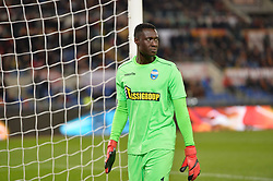 December 1, 2017 - Rome, Italy - Alfred Gomis during the Italian Serie A football match between A.S. Roma and Spal at the Olympic Stadium in Rome, on december 01, 2017. (Credit Image: © Silvia Lore/NurPhoto via ZUMA Press)