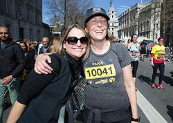 Competitors and spectators during the 2019 London Landmarks Half Marathon.