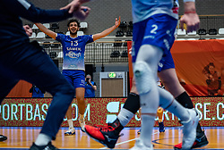 Hossein Ghanbari of Lycurgus in action during the cup final between Amysoft Lycurgus vs. Draisma Dynamo on April 18, 2021 in sports hall Alfa College in Groningen