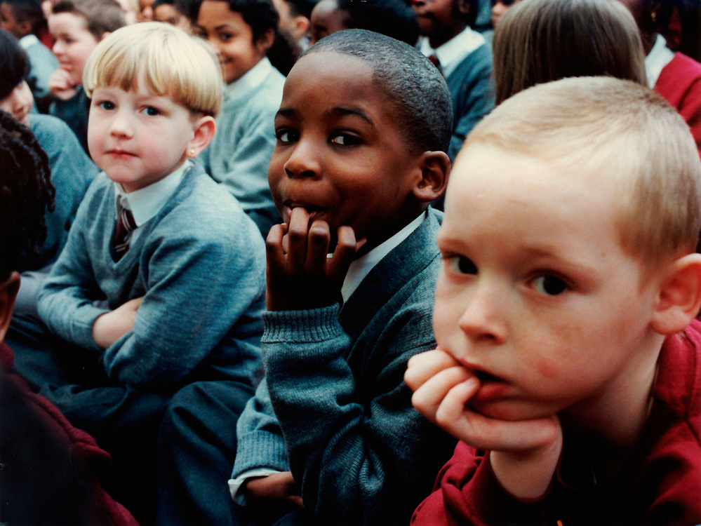 Assembly at Herbert Morrison Primary school; London