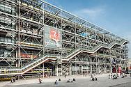 The Centre Georges Pompidou building in central Paris.