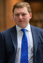 © Licensed to London News Pictures. FILE PICTURE DATED: 10/07/2016. London, UK. Former aide to Nigel Farage, GEORGE COTTRELL arrives at BBC Broadcasting House in London on July 10, 2016. COTTRELL is facing up to 20 years in jail in the US after admitting to fraud. Photo credit: Ben Cawthra/LNP Photo credit: Ben Cawthra/LNP