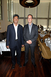 Left to right, owners of the Conran Restaurant group DES GUNEWARDENA and DAVID LOEWI at a dinner hosted by Vogue in honour of Antony Gormley held at the new Skylon restaurant at the refurbished Royal Festival Hall, South Bank, London on 22nd May 2007.<br /><br />NON EXCLUSIVE - WORLD RIGHTS