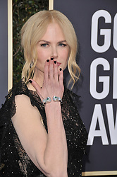 Nicole Kidman at the 75th Golden Globe Awards held at the Beverly Hilton in Beverly Hills, CA on January 7, 2018.<br /><br />(Photo by Sthanlee Mirador)