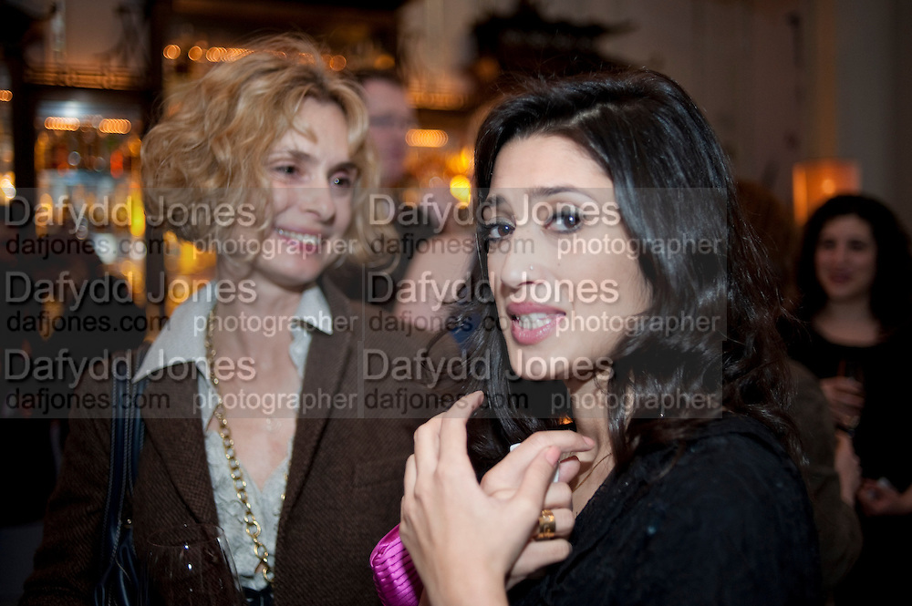 MARYAM D'ABO; FATIMA BHUTTO, Henry Porter hosts a launch for Songs of Blood and Sword by Fatima Bhutto. The Artesian at the Langham London. Portland Place. 15 April 2010.