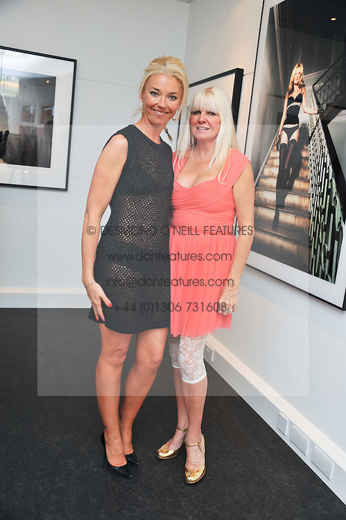 TAMARA BECKWITH and LINDSEY CARLOS CLARKE at a private view of an exhibition of photographs by Mike Figgis entitled 'Kate & Other Women' held at The Little Black Gallery, 13 A Park Walk, London SW10 on 22nd June 2011.