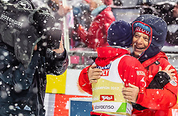 01.03.2019, Seefeld, AUT, FIS Weltmeisterschaften Ski Nordisch, Seefeld 2019, Skisprung, Herren, im Bild Bronzemedaillengewinner Stefan Kraft (AUT), OeSV Praesident Peter Schroecksnadel // Bronze Medalist Stefan Kraft of Austria, OeSV President Peter Schroecksnadel during the men's Skijumping of FIS Nordic Ski World Championships 2019. Seefeld, Austria on 2019/03/01. EXPA Pictures © 2019, PhotoCredit: EXPA/ JFK