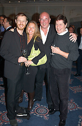 Left to right, TOM CONRAN, his sister SOPHIE CONRAN children of Sir Teence Conran, MR REG GADNEY husband of Fay Maschler and SIMON SLATER at the Tatler Restaurant Awards in association with Champagne Louis Roederer held at the Four Seasons Hotel, Hamilton Place, London W1 on 10th January 2005.<br /><br /><br />NON EXCLUSIVE - WORLD RIGHTS