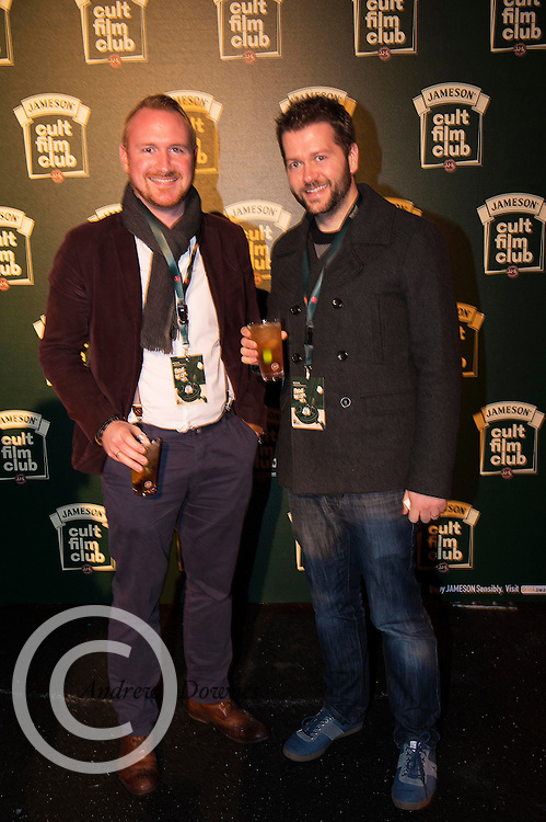 Cathal McBride John Quinlivan from Oranmore at the Jameson Cult Film Club screening of Friday the 13th Part 2 in the Black Box Theatre in Galway.  Photo:Andrew Downes