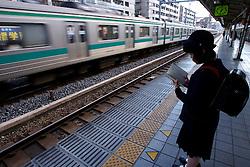 Estudantes na estação de metrô, em Tókio. FOTO: Jefferson Bernardes/Preview.com