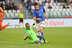 June 4, 2018 - Turin, Piedmont, Italy - Andrea Belotti (Italy) in action during the friendly football match between Italy and Holland at Allianz Stadium on June 04, 2018 in Turin, Italy. Final result: 1-1  (Credit Image: © Massimiliano Ferraro/NurPhoto via ZUMA Press)