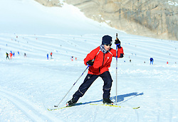Nordic skier, on October 22, 2008, glacier Dachstein, Ramsau, Austria. (Photo by Vid Ponikvar / Sportida).