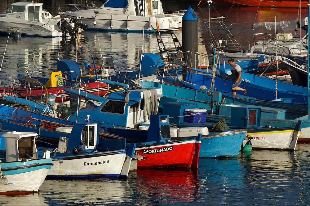08/Abril/2014 Islas Canarias. El Hierro.<br /> Barcos de pesca tradicionales en el puerto de La Restinga.<br /> <br /> © JOAN COSTA