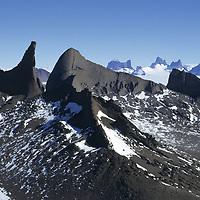 ANTARCTICA, Queen Maud Land. Holtedahl Mts. Fenris Mts. & Mt. Ulvetanna bkg.
