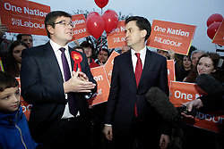 Labour's Latest MP Andy Sawford with Labour Leader Ed Miliband, Corby By-Election, Corby, Northamptonshire, November 16, 2012. Photo By Tim Scrivener / i-Images.