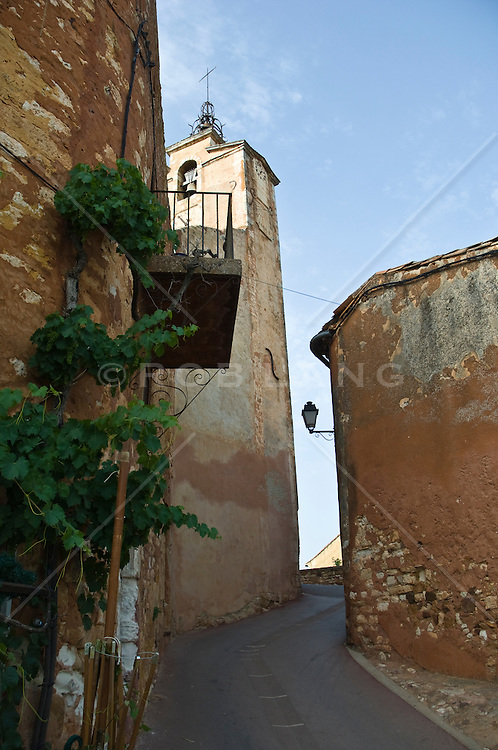 small street and buildings  in a town in France