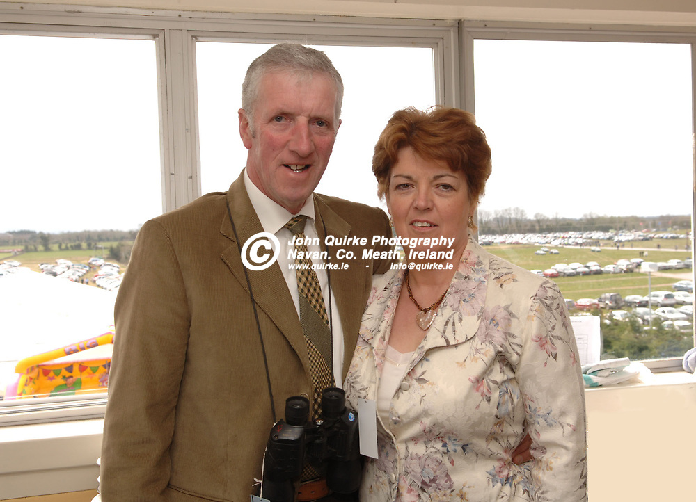 09-04-07. The Powers Whiskey Irish Grand National Steeplechase at Fairyhouse Racecourse.<br /> At the Sherry Fitzgerald reception.<br /> Richard and Teresa Lee, Navan.<br /> Photo: John Quirkre / www.quirke.ie<br /> ©John Quirke Photography, Unit 17, Blackcastle Shopping Centre, Navan. Co. Meath. (046-9079044/087-2579454).