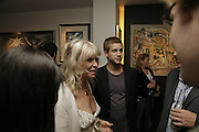 Jo Wood and Ty Wood, Ronnie Wood, private view. Scream, 34 Bruton Street, London, W1, 23 August 2006. ONE TIME USE ONLY - DO NOT ARCHIVE  © Copyright Photograph by Dafydd Jones 66 Stockwell Park Rd. London SW9 0DA Tel 020 7733 0108 www.dafjones.com