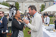 JAMES PUREFOY; LADY NAOMI BURKE, The Cartier Style et Luxe during the Goodwood Festivlal of Speed. Goodwood House. 1 July 2012.