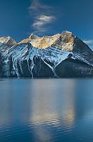 Sunrise over Mount Sarrail and Mount Foch Kananaskis Lake, Peter Lougheed Provincial Park