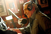"""ORG XMIT: *S19842EFB* (11/09/09) --  Dan Rather is interviewed on Willie's Place radio station, Sirius 64 XM 13, at Willie's Place in Carl's Corner, Texas, Monday November 9, 2009.  Rather will be conducting an open forum for truckers called """"Talking Trucks"""" during Dan Rather Reports, an HD Net program. Dan Rather visits the big truck stop at Carl's Corner, Texas, to hear from the American Truckers Associations and big rig drivers from across the country who are concerned about their profession. It will air Tuesday November 8 at 7pm Central Time.  (Courtney Perry/The Dallas Morning News)"""