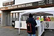 Foto Marco Alpozzi/LaPresse <br /> 08 Marzo 2020 Torino, Italia <br /> Cronaca <br /> Emergenza COVID-19 (Coronavirus) in Piemonte - Controlli di sicurezza allo Juventus Stadium prima del match contro l'Inter.<br /> Nella foto: ingresso <br /> <br /> Photo Marco Alpozzi/LaPresse <br /> March 08, 2020 Turin, Italy <br /> News<br /> COVID-19 (Coronavirus) emergency in Piedmont - Security checks at Juventus Stadium before the match against Inter Milan. <br /> In the pic: entrance