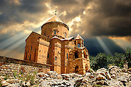 10th century Armenian Orthodox Cathedral of the Holy Cross on Akdamar Island, Lake Van Turkey 56 .<br /> <br /> If you prefer to buy from our ALAMY PHOTO LIBRARY  Collection visit : https://www.alamy.com/portfolio/paul-williams-funkystock/lakevanturkey.html<br /> <br /> Visit our TURKEY PHOTO COLLECTIONS for more photos to download or buy as wall art prints https://funkystock.photoshelter.com/gallery-collection/3f-Pictures-of-Turkey-Turkey-Photos-Images-Fotos/C0000U.hJWkZxAbg