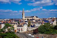 France, Maine-et-Loire (49), Angers, la ville et la Cathedrale St Maurice // France, Maine-et-Loire, Angers, the city and the St Maurice Cathedral