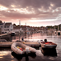 Sunset at the Camden Harbor in Maine