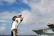 Victory Kiss Statue at the USS Midway in San Diego California