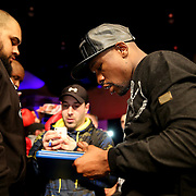 Boxer and promoter Floyd Mayweather is seen in the crowd during Showtime Televisions ShoBox:The Next Generation boxing match at the Event Center at Turning Stone Resort Casino on Friday, February 28, 2014 in Verona, New York.  (AP Photo/Alex Menendez)