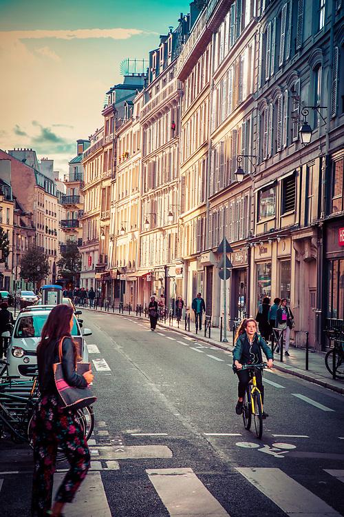 Street in the Latin Quarter, Paris