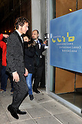 BARCELONA, SPAIN, 2015, DECEMBER 19 <br /> <br /> Valentino Rossi and Jorge Lorenzo attend party together<br /> <br /> Jorge Lorenzo and Valentino Rossi,  in Barcelona to attend the party that Yamaha offered on the occasion of the presentation of the new bike. Both, smartly dressed, did not miss this appointment the next day to meet again in the presentation.<br /> The day before the presentation of the new Yamaha, Jorge Lorenzo and Valentino Rossi staged a reunion cold like all previous acts and celebration that were suspended due to the controversy that marked the end of the MotoGP season. Everyone at Valencia last November that winter trusted heal the wounds left on the controversial season finale. However, nothing is further from reality, the tension still remains.<br /> Amid a huge media interest, especially because of the friction at the end of last season during a fight for the championship full of controversy, Lorenzo and Rossi have returned to match, this time in an evening organized in Barcelona by Yamaha. Gradually the guests were coming to the party. From the first to arrive Jorge Lorenzo, who was accompanied by friends. He looked very elegant in a suit and bow tie. Then came the great Italian Valentino Rossi with his girlfriend Linda Morselli with a suit much more modern and bright<br /> ©Exclusivepix Media