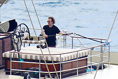 Bono works out on a yacht on St. Bart's - 23 Jan 2020