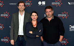 (left to right) <br /> Matt Mueller (International Juror), Sadie Frost (International Juror), Angus Macfadyen (International Juror) join the jury line up for the 2016 Edinburgh International Film Festival at  The Apex Hotel Grassmarket, Edinburgh17th June 2016, (c) Brian Anderson | Edinburgh Elite media