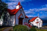 Iceland. Akureyri, an important port and fisheries centre. Péturskirkjan, the Catholic church.