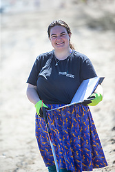 15JUL21 Catherine Gemmell. The Marine Conservation Society launching it's big beach clean up volunteer call at Cramond beach this morning.