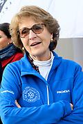 Kick-off De Hollandse 100 2020 op de Jaap Edenbaan voor de zesde editie van De Hollandse 100, die dit jaar op 15 maart in Thialf wordt gehouden. Het evenement heeft als doel de financiering van wetenschappelijk onderzoek naar de aard en behandeling van lymfklierkanker te steunen. <br /> <br /> Op de foto:  Prinses Margriet