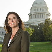 Dr. Sarah Simmons of the University of Texas at Austin visits the Capitol Building in Washington DC.