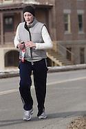 Middletown, NY  - Runners race in the Orange Runners Club Winter Series 5K road race on Jan. 27, 2008.