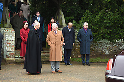 The Prince of Wales attends the Christmas Day morning church service at St Mary Magdalene Church in Sandringham, Norfolk.