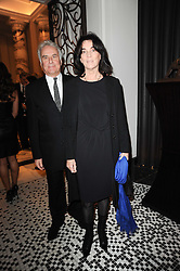 SIR RICHARD & LADY EYRE at the Liberatum Dinner hosted by Ella Krasner and Pablo Ganguli in honour of Sir V S Naipaul at The Landau at The Langham, Portland Place, London on 23rd November 2010.