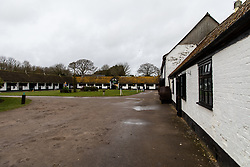 General view of the Stable grounds during the visit to Nicky Henderson's yard at Seven Barrows, Lambourn.