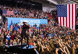 November 8, 2016 - Pennsylvania, United States - Lady Gaga in Raleigh in Support of Hillary Clinton at a midnight rally the night before the election at North Carolina State University on November 8, 2016 in Raleigh, North Carolina. The midnight rally followed Clinton campaigning in Pennsylvania, Michigan and North Carolina in the lead up to today's general election. (Credit Image: © Zach D Roberts/NurPhoto via ZUMA Press)