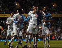 Photo: Tony Oudot.<br /> Tottenham Hotspur v Aston Villa. The FA Barclays Premiership. 01/10/2007.<br /> Dimitar Berbatov of Tottenham celebrates his goal with team mates