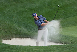 June 21, 2018 - Cromwell, Connecticut, United States - CROMWELL, CT-JUNE 21: Patton Kizzire hits out of a bunker on 15th hole during the first round of the Travelers Championship on June 21, 2018 at TPC River Highlands in Cromwell, Connecticut. (Credit Image: © Debby Wong via ZUMA Wire)