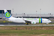 PH-HSB Transavia Airlines Boeing 737 Next Gen. Photographed at Malpensa airport, Milan, Italy